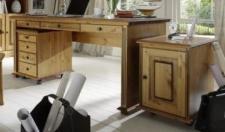 Schreibtisch Arbeitstisch Bürotisch Computertisch Kiefer massiv patiniert