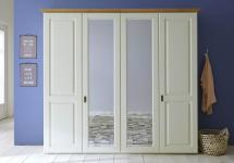 Kleiderschrank Schlafzimmerschrank Schrank 4-türig Landhausstil Kiefer massiv