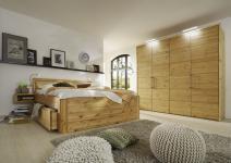 Schlafzimmer komplett Bett Kleiderschrank Kiefer massiv gelaugt geölt FSC