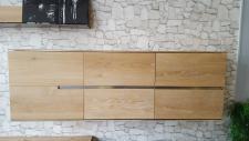 Hängeboard Sideboard Hängeschrank Wandschrank Asteiche Eiche massiv bianco geölt