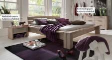 Bett Ehebett massiv Eiche Balkeneiche white wash rustikal Überlänge möglich