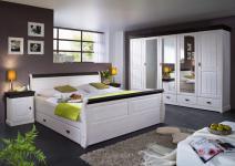 Schlafzimmer komplett Schrank 5türig Bett Landhausstil Kiefer massiv