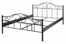 Metallbett Bett Metall schwarz 140 x 200 cm Bettrahmen Romantik französisch