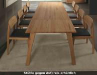 Tisch Esstisch Gestellauszug Esszimmer Kernbuche Rotkernbuche massiv geölt