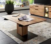 Couchtisch Beistelltisch Säulencouchtisch mit Funktion Wohnzimmer Asteiche