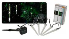 Solar-Leuchtstäbe mit Regeneffekt Gartendeko Stimmungslicht LED mit Akku
