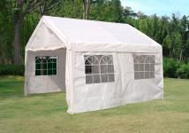 Partyzelt Gartenpavillon Bierzelt Festzelt Garten Überdachung Sonnenschutz 4x4m