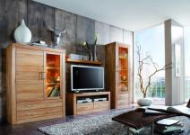Wohnwand Anbauwand Wohnzimmer Kernbuche massiv