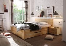Bett Doppelbett Schubladenbett Holzbett Schubladen Kernbuche geölt versch Größen