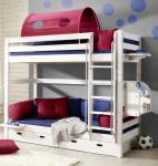 Etagenbett Hochbett Kinderbett Kinderzimmer Betten Kiefer massiv weiss lasiert