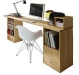 Schreibtisch Computertisch planbares System Arbeitszimmer Kernbuche massiv geölt