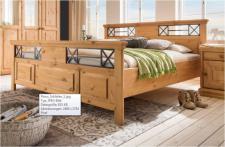 Einzelbett Doppelbett Ehebett Bett Schlafzimmer Kiefer massiv geölt Landhaus