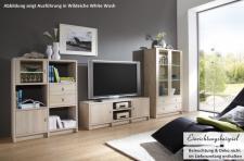 Wohnwand TV-Wand Wohn System Wildeiche White Wash Kernbuche massiv geölt