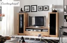 Wohnwand Wohnregal TV-Wand Hifi Lowboard Kernbuche massiv geölt Wohnzimmer