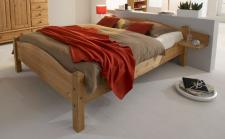 Doppelbett Bett Schlafzimmer Holzbett Kiefer massiv 140 x 200 cm
