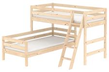 Flexa Classic mittelhohes Bett Kombibett Eck-Bett Kinderbett Jugendbett Kiefer
