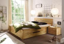 Bett Doppelbett Schubladenbett Holzbett Schubladen Wildeiche geölt versch Größen
