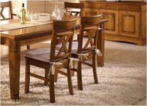 Stuhl Esszimmerstuhl Holzstuhl 2er Set mit Holzsitz Kiefer massiv