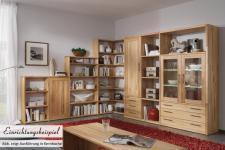 Regal Wohnwand Bücherregal Wildeiche Kernbuche massiv geölt