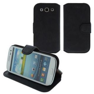 Für Samsung i9300 S3 Table Talk Case/Cover/Bumper/Hülle/Schale/ Schwarz LEDER!!!