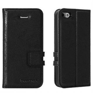 Handytasche für Apple iPhone 5c Schwarz Smartphone Etui Case Cover Hülle Tasche