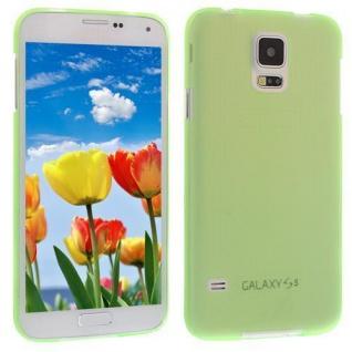 Für Samsung S5 i9600 Grün Slim TPU Case Cover Hülle Schale Schutzhülle Dünn! NEU