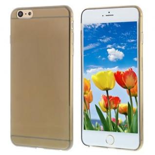 Silikon Case für Apple iPhone 6 PLUS -Transparent Schwarz- Cover Bumper Etui NEU