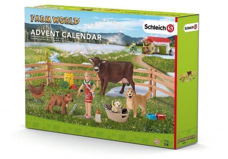 Schleich Adventskalender - Bauernhof Einzelfiguren & Zubehör werden zu einem Set