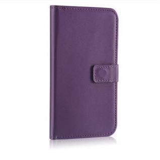Bookstyle Wallet Case für Samsung Galaxy S5 i9600 Lila Kartenfach Magnetschnalle