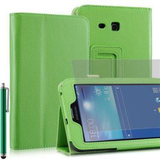 """Faltbare Tablet Tasche für Samsung Galaxy NOTE PRO T110 GRÜN 7"""" inkl Stift+Folie"""