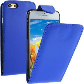Flip Case für Apple iPhone 6 - Blau - Handytasche Smartphonetasche Case Cover Etui