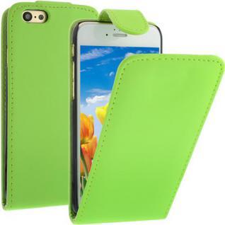 Flip Case für Apple iPhone 6 - Grün - Handytasche Smartphonetasche Case Cover Etui