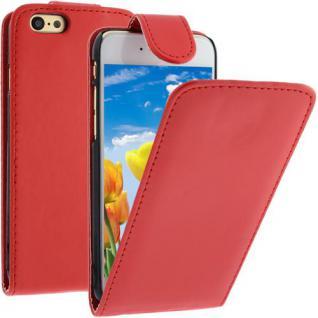 Flip Case für Apple iPhone 6 - Rot - Handytasche Smartphonetasche Case Cover Etui
