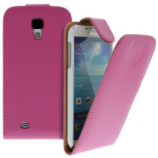 Für Samsung Galaxy S4/i9500 Handy Flip Case Tasche Hülle Pink Tasche