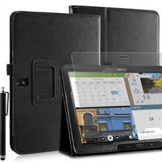 """Faltbare Tablet Tasche für Samsung Galaxy NOTE PRO T520 Schwarz 10, 1"""" Stift+Folie"""