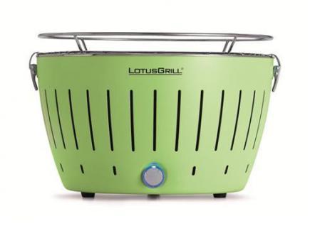 LotusGrill (Limettengrün) der rauchfreie Holzkohlegrill/Tischgrill in verschiedenen fröhlichen Farben. Neueste Technik mit Turboboostsystem (garantiert immer die neueste Technik)