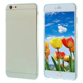 Silikon Case für Apple iPhone 6 PLUS - Transparent BLAU - Cover Bumper Etui NEU