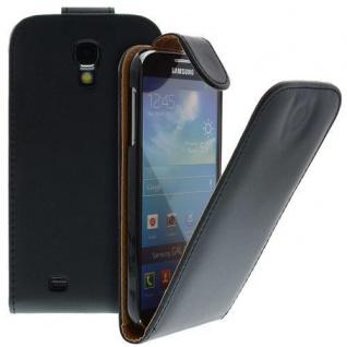 Für Samsung Galaxy S4/i9500 Handy Flip Case Tasche Hülle Schwarz Tasche