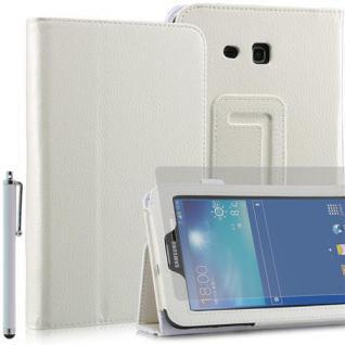 """Faltbare Tablet Tasche für Samsung Galaxy NOTE PRO T110 weiß 7"""" inkl Stift+Folie"""
