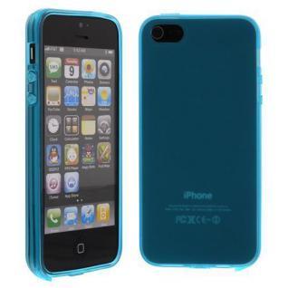Silikon Case für Apple iPhone 5 SE, 5C, 5S Türkis Etui Cover Bumper Neu!