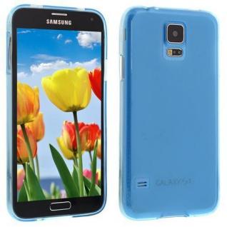 Für Samsung S5 i9600 Hellblau Slim Silicon Case Cover Hülle Schale Schutzhülle