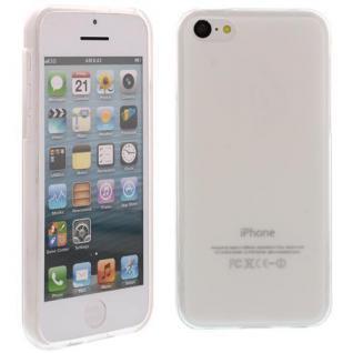 Silikon Case für Apple iPhone 5C Weiß Etui Cover Bumper Tasche