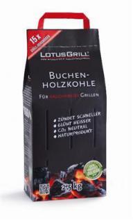 LotusGrill Buchen-Holzkohle 2, 5 kg! Speziell entwickelt für den rauchfreien Holzkohlegrill/Tischgrill