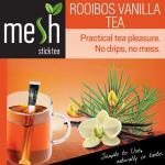 Mesh Rooibos Vanille Tee 30 Sticks Tee genießen leicht gemacht - Kein Beutel, Kein Tropfen, Kein Löffel - Einfach in der Handhabung, natürlich im Geschmack!