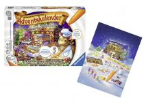 Ravensburger tiptoi Adventskalender 00738 - Mini-Puzzle, Memory, Glöckchen, Aufsteller, Backförmchen, diverse Spieltafeln und Spielplättchen, uvm. - 24 Türchen voller Überraschungen zum Spielen, Zuhören und Mitsingen