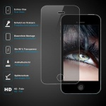 Premium Schutzglas 0, 3mm für Apple iPhone 4 / 4s Echtes Glas bis 99% transparent