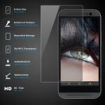 Premium Schutzglas 0, 3mm für HTC One M8 Mini - Echtes Glas, bis 99% transparent