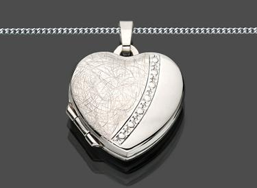 herz medaillon amulett anh nger kette silber 925 kaufen. Black Bedroom Furniture Sets. Home Design Ideas