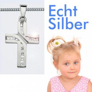 Mädchen Silber Kommunion Kreuz Kette