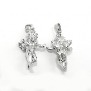 Juwelier Schutzengel Putte Anhänger Frauen Kinder Echt Silber 925 mit Kette Neu